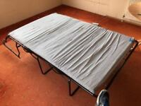 Fold out bed for caravan or camper van