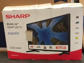 sharp 32 in new only the box open