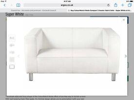 2 x White Sofas