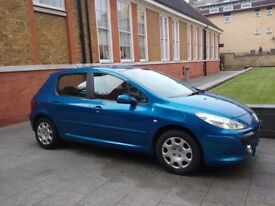 For sale Peugeot 307 x-line 2007 1.4 16v Blue A/C Thatcham 2 security, Air bags, 5 spd MOT 2/10/2018