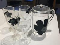 Jug and four goblets