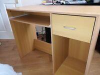 Birch computer desk for £8
