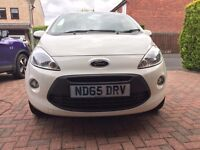 Ford Ka White limited Edition Dec 2015 (65). Excellent condition
