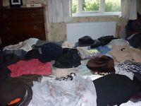 BUNDLE LADIES CLOTHING SHOES ,BOOTS,HATS ,BAGS,SCARVES