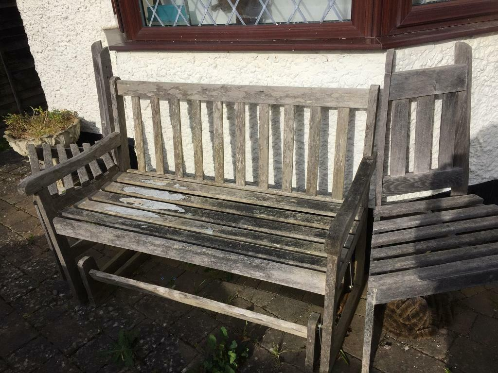 Wooden Rocking Garden Bench