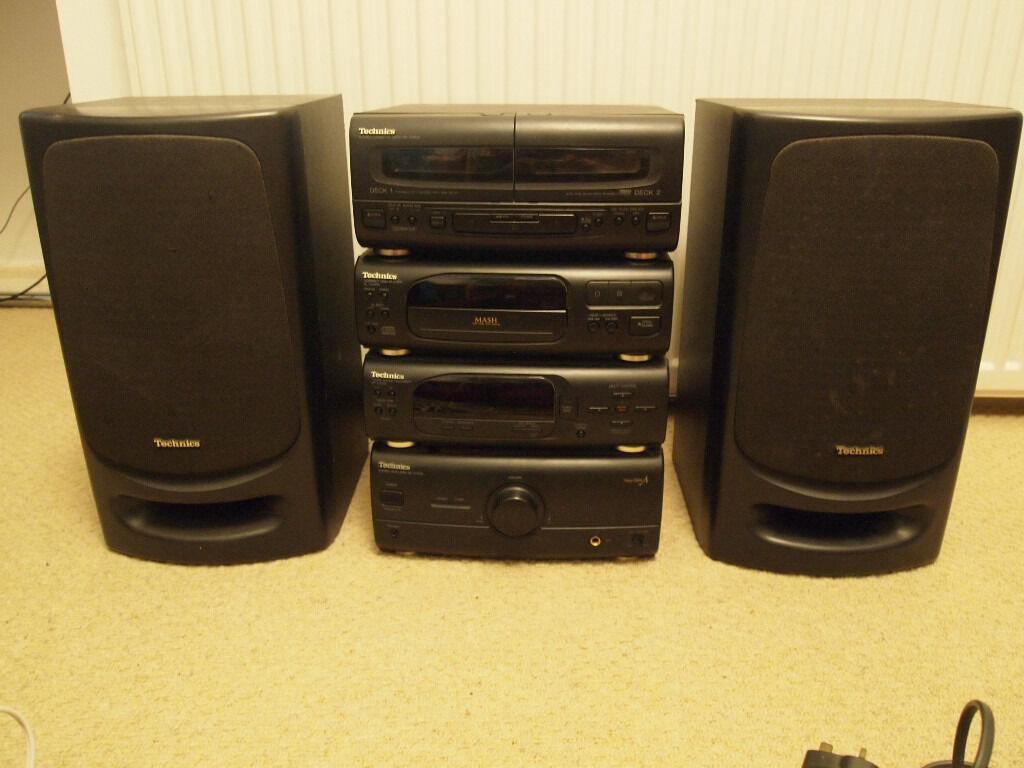Technics separates hifi systemin Millbrook, CornwallGumtree - Technics separates hifi with SE CH404 amp, ST CH505 sound processor/tuner, SL CH505 CD player and RS CH404 double cassette player. Includes matching Technics speakers, plenty of speaker cable, power cable. I have the remote somewhere but not sure...