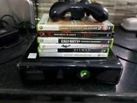 352 xbox 360 s slim model 1439 250gb with pad and 6 good games