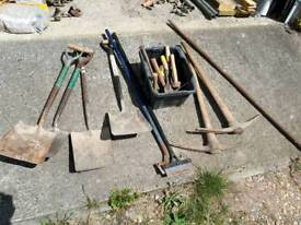 Builders hand tools.