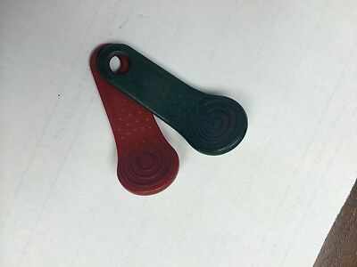 START AND STOP WORK keytabs 40 total RED GREEN Exaktime keytag best price online