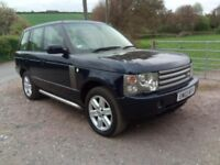landrover range rover vogue 03 3.0td4wd sat nav tv leather90k fsh auto fully loaded cheap 4wd jeep