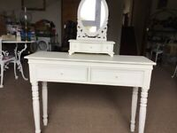 Dressing table with small Free standing mirror and drawers
