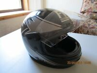 """FM"" Kevlar Mix Energised Full Face Motor Cycle Helmet - Black / Silver"
