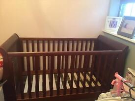 Brand new Mamas & papas Mia walnut nursery set