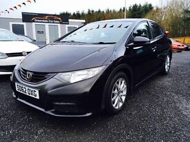 2012 honda Civic, 12 months warranty Finance available pay Nothing until February!!
