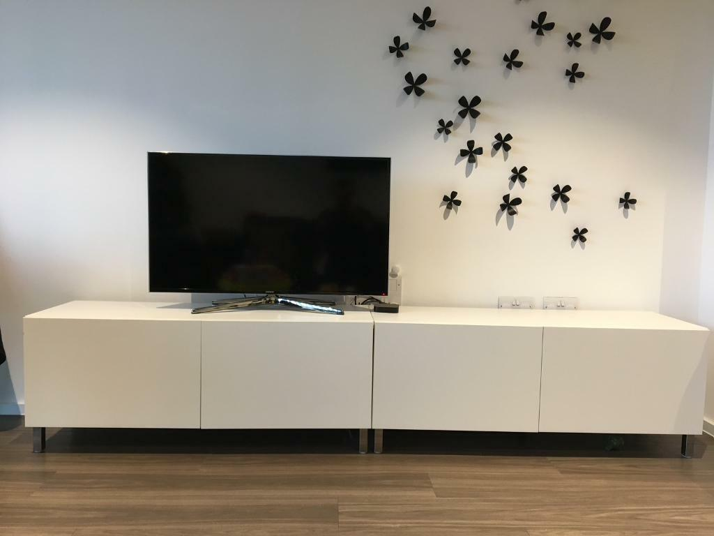 reserved tv cabinet ikea besta series x 2 in london gumtree. Black Bedroom Furniture Sets. Home Design Ideas