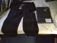 2 pairs of Trojan Tradesman Work Cordura Trousers Grey Black W38 REGULAR. BRAND NEW WITH TAGS