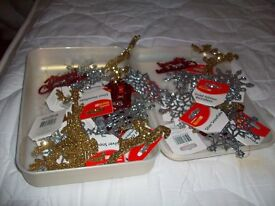 christmas decorations in box if you buy more three items discount will be given