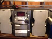 Stereo system for sale.