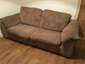 3 x seater and 2 x seater sofa bed