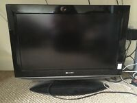 "25"" Sharp Aquos flat screen digital tv"