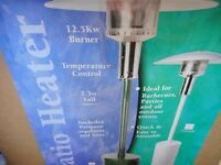 full size boxed gas patio heater never used green