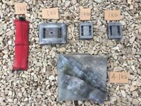 Dive belt lead block weights and roof lead