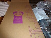 Brand new, still boxed, shower organiser pole