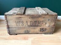 Vintage Original Wooden Alcohol Crates