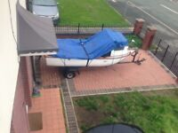 For sale is my well looking fishing boat that's really good condition for project boat