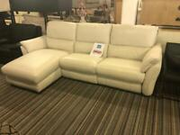 Full leather corner chaise electrical recliner sofa