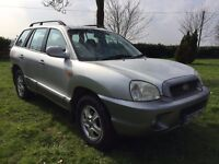 Hyundai Santa Fe, 2002, 4x4 SUV Estate, 2.4 petrol, MOT 12 months with no advisories, £850 ono