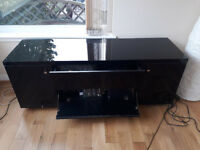 Black Lacquer TV/Video Cabinet/Sideboard