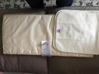 Snuz pod mattress protective lining and sheets