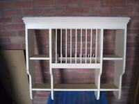 Large Cream Wall Mounted Plate Rack French Country Shabby/Vintage - Fab!