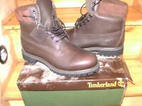 mens timberland hi top brown boots uk 10 new never worn