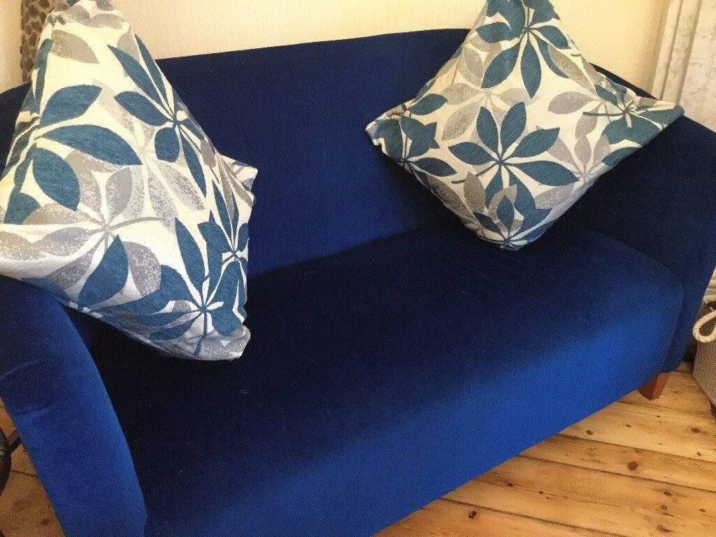 Velvet sofa & chair