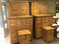 Top quality oak bedroom sets £875 each RRP £3200