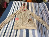 Leopard print Paul's Boutique zip hoodie size small