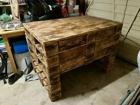 Rustic hand made solid wood unit