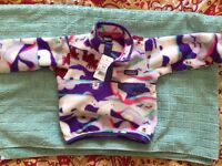 New Patagonia 12-18 month Synchilla Fleece Snap-T Pullover jumper