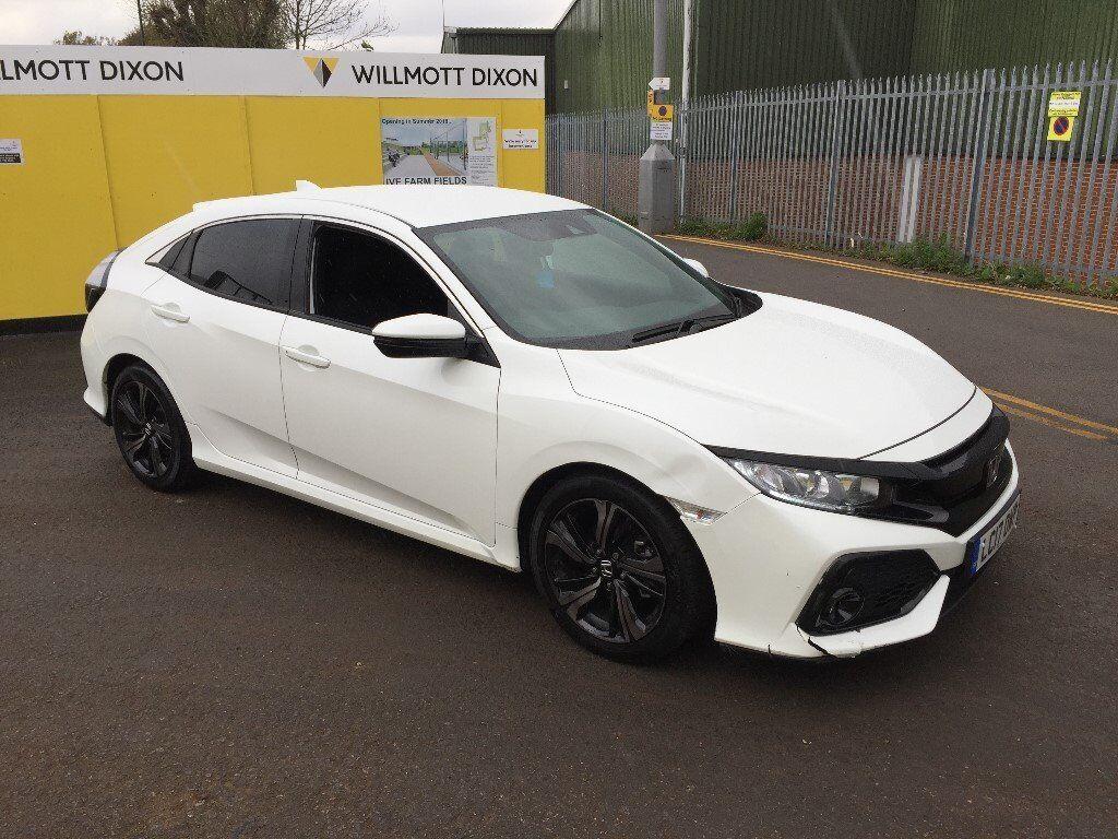 2017 17 honda civic sr 1 0 vtec turbo 5 door white damaged for 2017 honda civic owner s manual