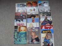 job lot of 80s vinyl records