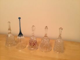Collection of Crystal and Glass Bells