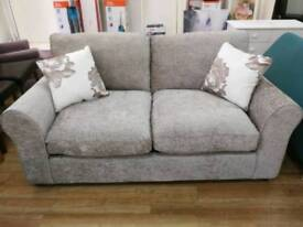 Brand new cream fabric sofa bed with cushions