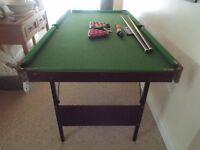 Omega 6ft x 3ft Folding Pool/Snooker Table