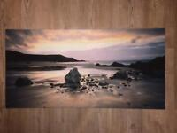 Canvas print beach scene