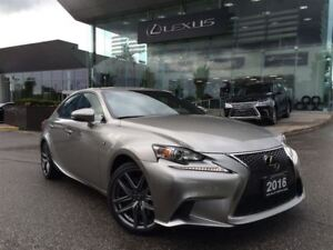 2016 Lexus IS 300 F Sport 3 Navi Backup Cam Red Leather