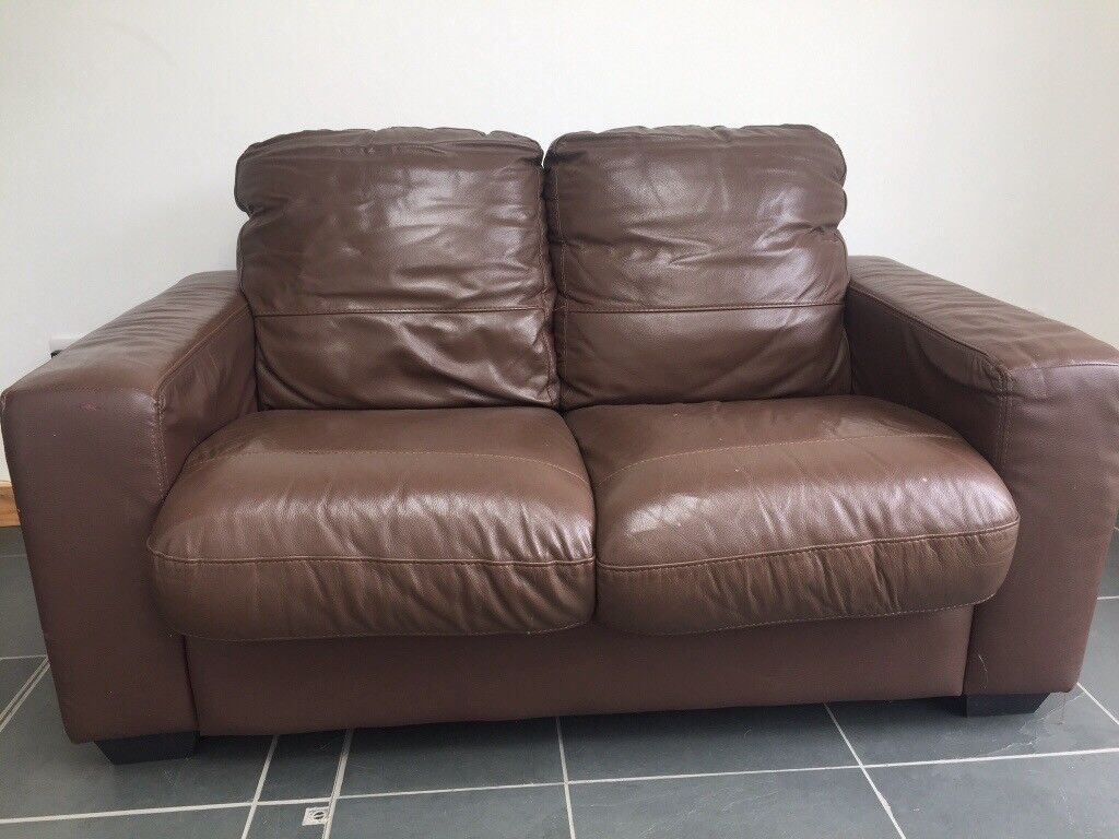 FREE Leather style two-seater sofa
