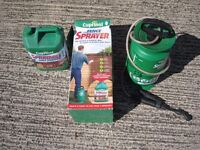 Cuprinol Fence sprayer and 5 litres of Autumn brown treatment