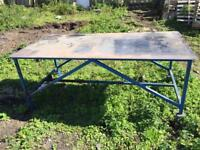 8x4 steel fabrication bench well made 6mm top